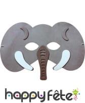 Masque d'éléphant pour enfant, en mousse