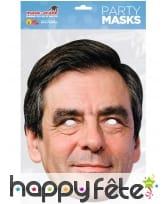 Masque de François Fillon en carton plat, image 1