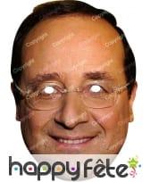 Masque de François Hollande en carton