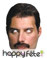 Masque de Freddie Mercury en carton