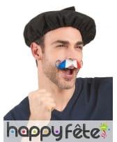 Moustache drapeau France adhésive