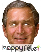 Masque de George Bush en carton