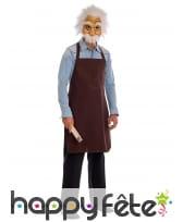 Masque de Geppetto avec tablier pour adulte