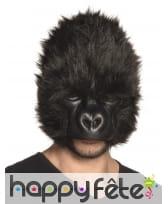 Masque de gorille avec pelage pour adulte
