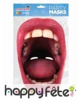 Masque de grande bouche avec des carries, adulte