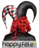 Masque d'horrible clown avec grand chapeau, image 1