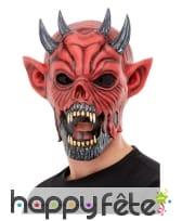 Masque d'horrible diable rouge pour adulte