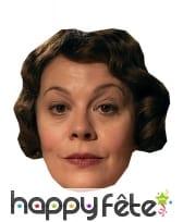 Masque de Helen McCrory en carton