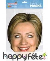 Masque de Hilary Clinton en carton, image 1