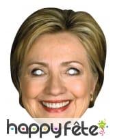 Masque de Hilary Clinton en carton
