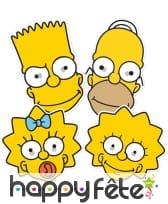 Masques de Homer, Lisa, Maggie et Bart Simpson