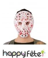 Masque de Jason avec tâches de sang pour adulte