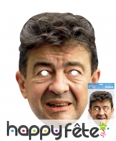 Masque de Jean Luc Mélenchon en carton
