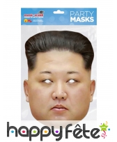 Masque de Kim Jong Un en carton plat, image 1