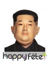 Masque de Kim Jong Un en latex pour adulte
