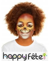 Maquillage de lion queue et oreilles pour enfant, image 1