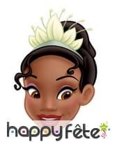 Masque de la princesse Tiana en carton