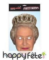 Masque de la reine Elisabeth, en carton