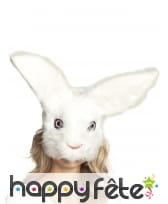 Masque de lapin avec pelage pour adulte