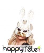 Masque de lapin blanc burlesque, facial