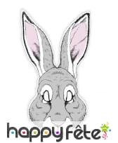 Masque de lapin dessiné en papier