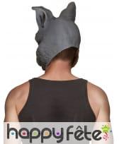 Masque de lapin gris foncé pour adulte, image 1