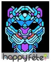 Masque de léopard LED réactif à la musique, adulte, image 1