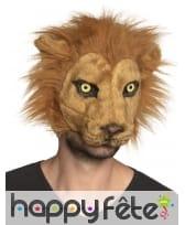 Masque de lion avec pelage pour adulte