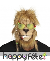 Masque de lion Bob marley intégral pour adulte