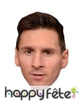 Masque de Lionel Messi en carton plat