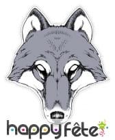Masque de Loup dessiné en papier