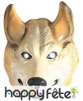 Masque de loup facial pour adulte