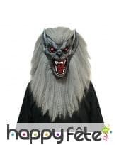 Masque de loup garou intégral avec crinière