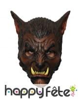Masque de loup garou marron