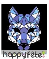 Masque de loup LED réactif à la musique, adulte, image 1