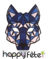 Masque de loup LED réactif à la musique, adulte