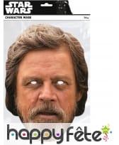 Masque de Luke Skywalker en carton plat, image 1