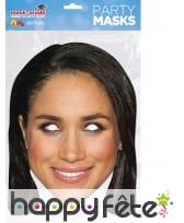 Masque de Meghan Markle en carton plat, image 1