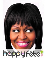 Masque de Michelle Obama en carton plat