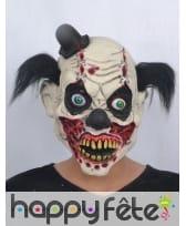 Masque de monstre clown avec cheveux noirs, image 2