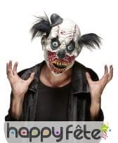 Masque de monstre clown avec cheveux noirs