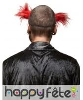 Masque de monstre clown cheveux rouges, image 1
