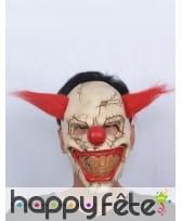 Masque de monstre clown cheveux rouges, image 2