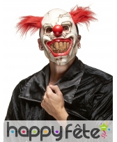 Masque de monstre clown cheveux rouges