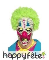 Masque de monstre clown uv réactif