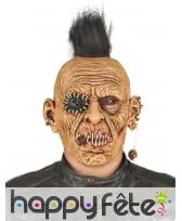 Masque de monstre zombie intégral en latex, adulte, image 1