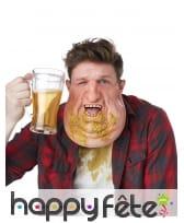Masque double menton et vomi bas de visage