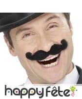 Moustaches de music-hall noires