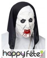 Masque de nonne zombie assoiffée de sang, adulte, image 1