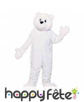 Mascotte d'ours blanc
